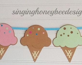ice cream banner, ice cream party, ice cream social, ice cream birthday banner, sweet shoppe banner, sweet shoppe birthday, ice cream parlor