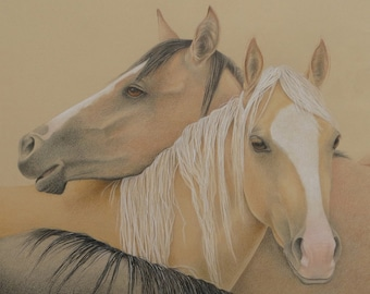 Custom Pet Portraits, Horse Portrait, Colored Pencil Drawing, Hand Drawn, Original Art from your Photo