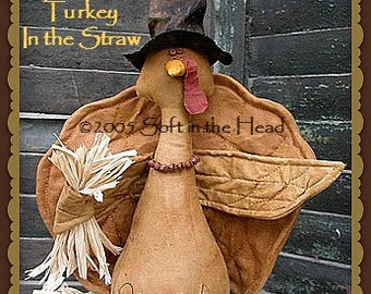 Crosby the Turkey in the Straw E-Pattern