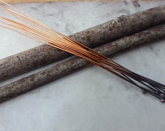Copper Headpins - Copper Findings - Handmade Copper Headpins - Handmade Copper Findings - Copper Ball Pins - Copper Ball Headpins(FIRESCALE)