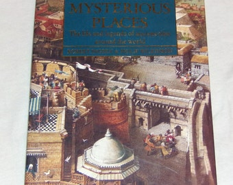 Fantasy Book Encyclopedia of Mysterious Places Coffee Table Vintage Book on life and legends of the ancient world