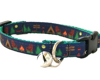 Camping Cat Collar Breakaway