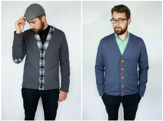 The Auden Men\'s Knit Cardigan PDF Sewing Pattern SX to XL