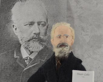 Tchaikovsky Doll Miniature Sized Classical Music Composer of Nutcracker Suite