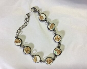 Rabbit broken china bracelet