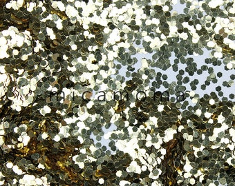 """Cosmetic Grade Gold Glitter 040"""" 1.0mm - for nail and indie polish and crafts"""