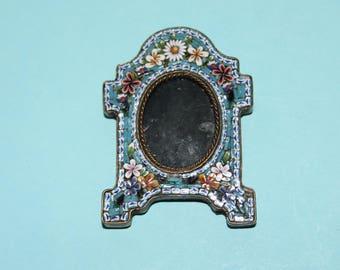 Rare Antique Miniature Italian Micro Mosaic Picture/Photo Frame/Collectible/Victorian