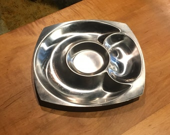 Vintage 1960's Mid Century Cultura Stainless Steel Serving Tray  - Made in Sweden