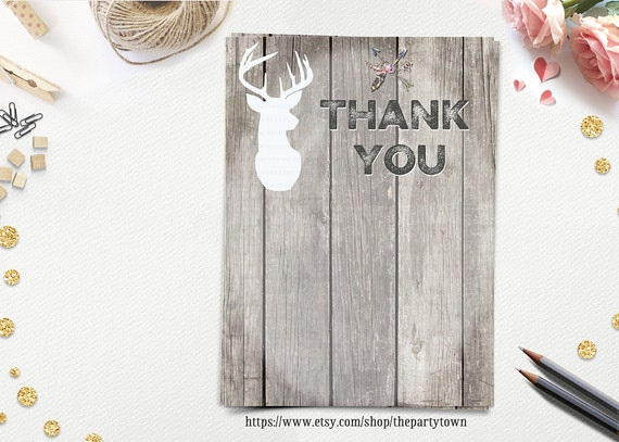 Oh Deer Baby Shower Thank You Card Little Deer Thank You