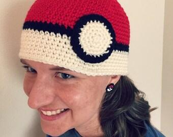 Pokémon Beanie, Pokémon Hat, Pokéball Hat