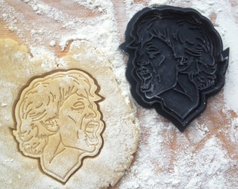 Mick Jagger face cookie cutter. Rollings cookies.