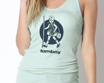 Woman Graphic Racerback Tank Top Hiking Shirt Hike Gear Tomboy Shirt Camping Hiking Gift
