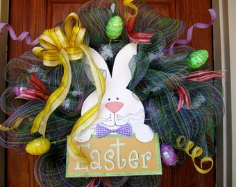 Easter Bunny Wreath Example Only