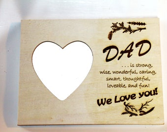 Picture frame for Dad and Fathers Day