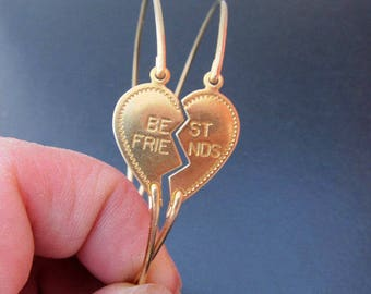 Best Friend Bracelets for 2, Long Distance Friendship Bracelet Set for Best Friend, Birthday Gift for Best Friend, Broken in Half Heart