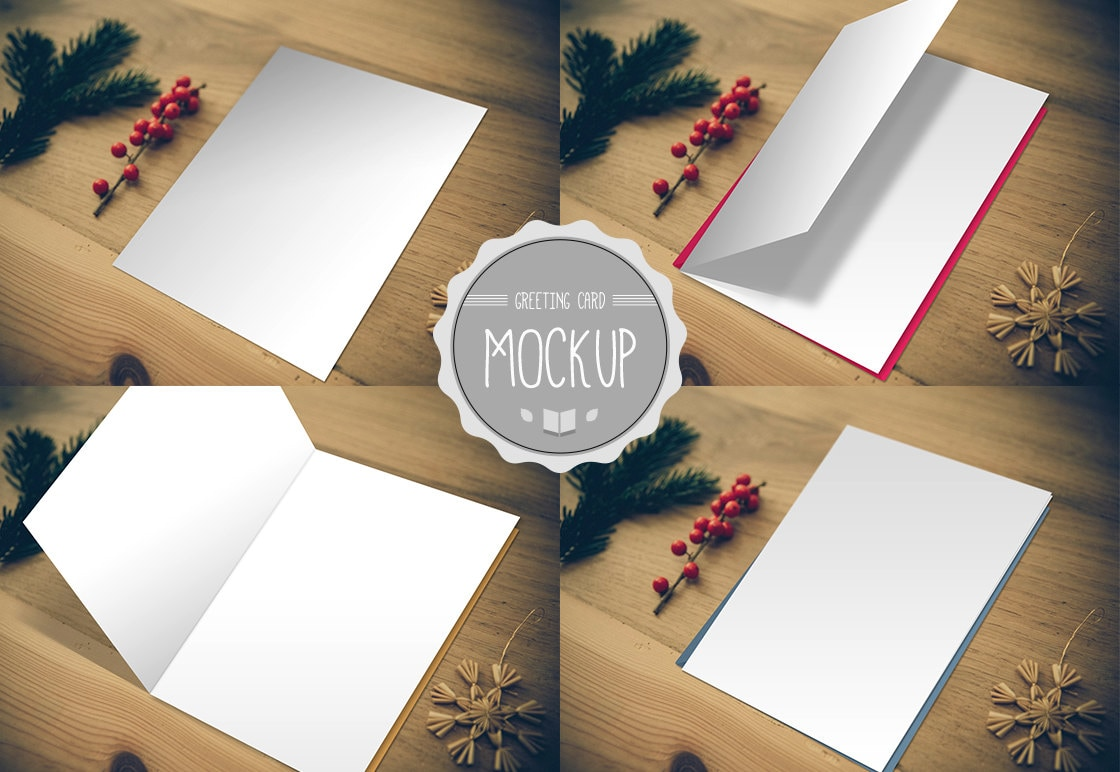 Greeting card mockup instant download photoshop psd zoom kristyandbryce Image collections