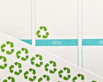 39 Recycle Symbol Stickers! free Customization Perfect for your Erin Condren Life Planner, Filofax, Kikkik, Plum Paper and other planner!