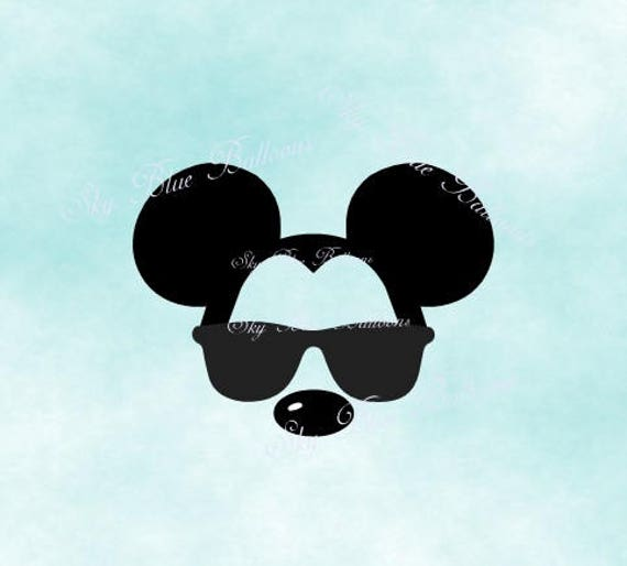 Mickey Sunglasses SVG Mickey Trip Svg Mickey with Sunglasses