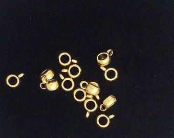 Gold bail etsy 25 pieces pendant bails bails pendant bails bails gold bails charm mozeypictures Images