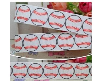 """7/8"""" Grosgrain Ribbon Sports Baseball Printed Colorful Grosgrain Ribbon"""