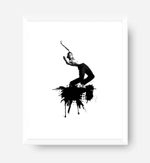 Dancer art printable modern dance print contemporary dance