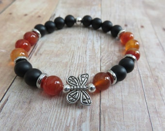 Monarch Butterfly Bracelet, Prosperity Bracelet, Self Confidence Bracelet