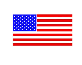 American Flag cut file for cutting machines - SVG DXF EPS ps Studio3 Studio