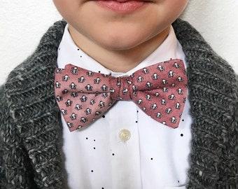 Boys Dusty Rose Vintage Print Bow Tie