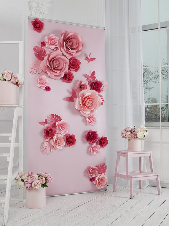 paper flowers paper flowers backdrop wedding backdrop