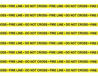 1:25 G scale fire line do not cross scene barrier tape