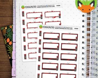 Large Blood Splatter TVs - Movie TV Show Night Horror - Planner Stickers (F0009)