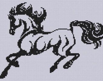 Horse 13 Cross Stitch Pattern