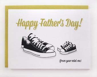 Mini Me Black Tennies - Father's Day Card