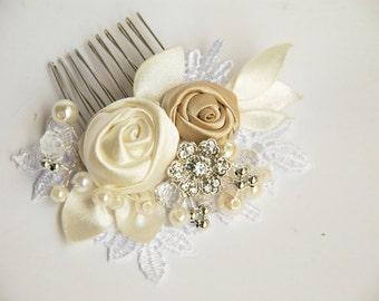 Wedding  hair comb, Bridal hair comb, Pearl hair comb, Lace hair comb,Lace wedding hair comb, Bridal headpiece, Wedding hadpiece
