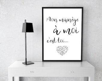 """Poster """"Mon manège à moi c'est toi"""""""