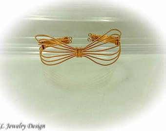 Copper Bowtie Cuff Bracelet