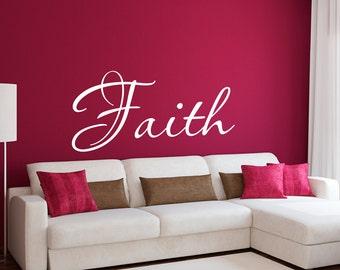 Faith Wall Decal - Faith wall Sticker - Christian Wall Decal - Large