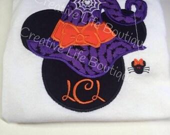 Disney Halloween Witch  Minnie Shirt - Personalized - Youth, Disney Halloween shirt, Boo Disney , Halloween Minnine