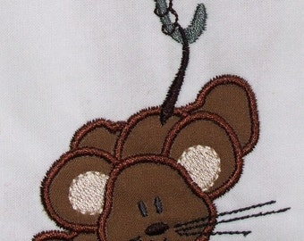 INSTANT DOWNLOAD Umbrella mouse Applique design