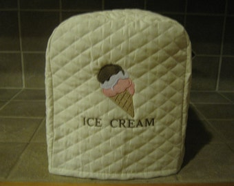Quilted Machine Embroidered Ice Cream Maker Cover