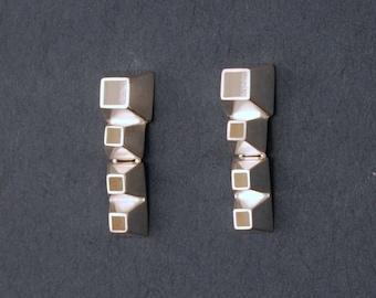 linear cube earrings