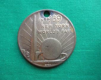 1939 World's Fair Coin Pendant