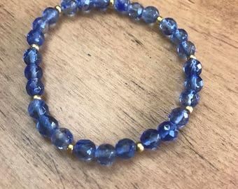 Blueberry Quartz Soothing Energy Bracelet
