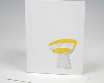 Platner Chair Letterpress Card