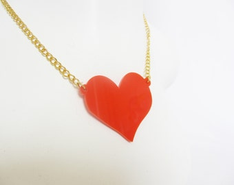 Large Red Heart necklace