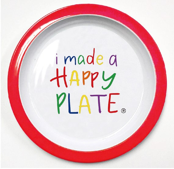 Happy Plate Kids Happy Plate Kids Dinnerware I Made A Happy Plate The Happy Plate Happy Dance Kids Happy Plate Kids Dinner Plate  sc 1 st  Etsy : dinner plates for kids - pezcame.com