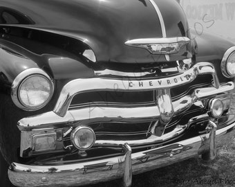 8 x 10 matted photo 1954 Chevy Truck Black and White photograph