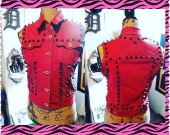 Red Studded vest  Levis size M