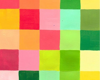 "Color Grid: Spring 2, small, original color study, 5"" x 5"""