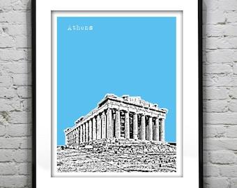 Athens Greece Poster Parthenon Art Print Version 3